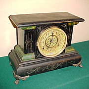 Nice 8 Day Ingraham Chiming French Style Clock-Runs Great