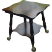 Nice Victorian Era  Parlor Table w/ Northwind Extra Lg Glass Feet