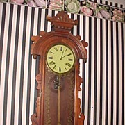 "Beautiful Antique Owari 36:"" Tall Eight Day/Striking Wall Clock"