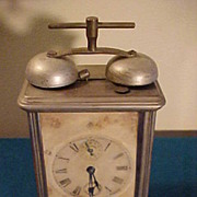SALE PENDING Decent Late 1880's Gilbert Carriage Clock w/Alarm-Runs Great