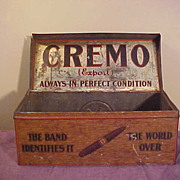 Neat 1920's Cremo Cigar Advertising Tin