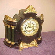 Ansonia Open Escapement & Ornate8-Day Cast Iron Mantel Clock