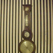Excellent Early 1800's Antique Wall Barometer - Original &Complete