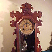 Nice All Original Ansonia Walnut 8-Day Striking  Mantel Clock