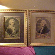 Wonderfully Framed George & Martha Washington Lithographs