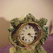 Excellent Original Ansonia Tempest Porcelain 8 Day Mantel Clock