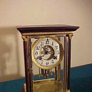 Excellent Empire Style Waterbury Crystal Regulator Clock