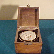Interesting German Vintage Compass Mounted in Dovetail Box