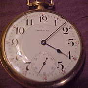 Nice Waltham Riverside 16 Sz/19 J Open face Pocket Watch