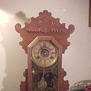 Excellent Waterbury 8-Day Chiming w/Alarm Antique Mantel Clock