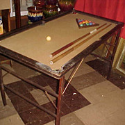 Nice Early 1900's ET Burrowes Co Junior Very Portable Pool table