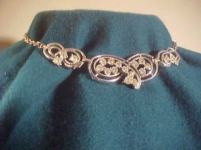 Exquisite Silver Tone Choker With CZ Stones
