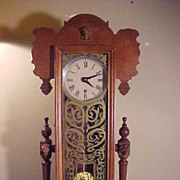 Unusual Vintage 8-Day Time Only Tall Mantle Chiming Clock