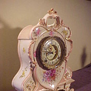 SALE PENDING Wonderful Ansonia Royal Bonn Model 504 Antique Porcelain Clock