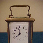 1880's Time Only French Carriage Clock In Excellent Condition