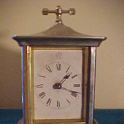 SALE PENDING Nice 1880's Waterbury Large Carriage Clock