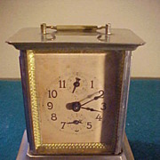 SALE PENDING Nice Early German Carriage Style Alarm Clock