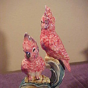 Excellent  Stangl Double Pink Cockatoos Figurine -Vibrant Colors