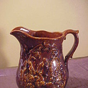 Perfect Antique Bennington English Hunt Scene Pitcher-Free Shipping