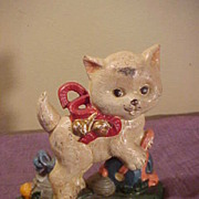 Colorful Guaranteed Old Kitten Cast Iron Doorstop-Free Shipping