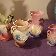 4 Pcs Hull Vintage Pottery