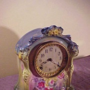 Ansonia Royal Bonn Porcelain 8-Day Chiming Clock-Runs Great