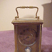 Antique French Platform Escapement Carriage Clock -Runs Great
