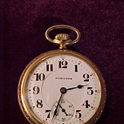 Hamilton Gold Filled Case 992 21J/16 Size Railroad  Pocket Watch