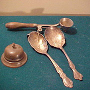 Neat Group of Service Bell, Serving Spoons, and Ice Cream Scoop