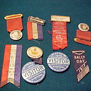 Group of Nine Neat Odd Fellows Ribbons & Pinpacks