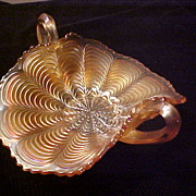 Excellent Marigold Double Handled Ruffled Bowl