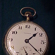 Nice Waltham 16 Sz/ 21 J Crescent St Railroad Grade Pocket Watch