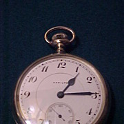 Another Hamilton 16 Sz/21 J Open Face Railroad Pocket Watch