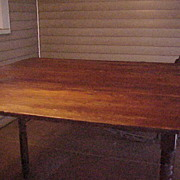 Nice 1800's Morris Country Table-Fold Leaf Style & Nice Wood Grain