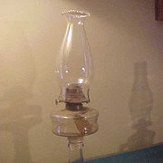 Nice Original Tall Antique Table Oil Lamp