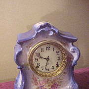 Great Deep Blue Ansonia La Fontaine Royal Bonn Porcelain Clock