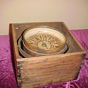 "Neat Whyte & Co Antique 6"" Floating  Boxed Working Compass"