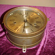 Vintage Seth Thomas Brass Case Striking Ships Clock