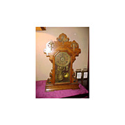 Excellent Seth Thomas Ornate w/Metal trim 8-Day Mantel Clock