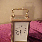 SOLD Nice Antique French Time Only Carriage Clock - Runs Great
