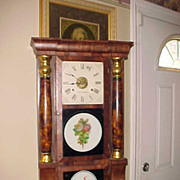 SOLD Excellent Circa 1860 Seth Thomas Triple Decker Empire Column Clock