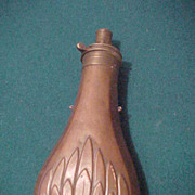 Very Attractive Civil War Era Batty & Sons Flaske Filled w/Ball Shot