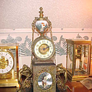French Marble, Porcelain & Figurines Time Only Mantel Clock