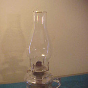 Nice  Pedestal Style Finger Hold P&A Waterbury Ct Oil Lamp