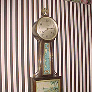 Antique Ingraham All Original Treasure island 8-Day Banjo Clock