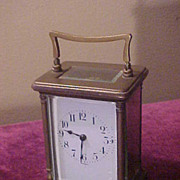 Nice Antique French Medium Size Carriage Clock-Runs Perfect