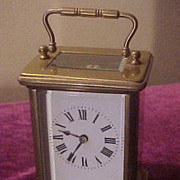 Another Nice French Medium Size Carriage Clock-Good Glass&Brass