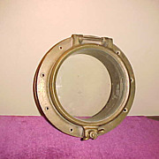 "Excellent Vintage 9"" Ships Porthole-Never Painted Working Condition"
