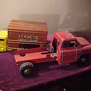 2 Nice 1940's Pressed Steel Service Trucks- Lumar & Structo