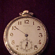 Nice Waltham 12 Size 17 Jewel Open face Pocket Watch